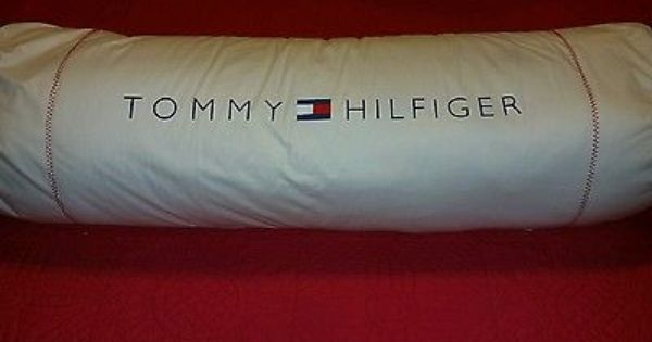 Huge Red White Blue Nautical Pillow Tommy Hilfiger Body Pillow Bed Roll 37x10 Bed Pillows Decorative Nautical Pillows Pillows