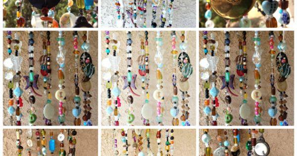 Bohemian Boho Inspired Mobile Suncatcher Hanging - Home Garden Decor - Beads