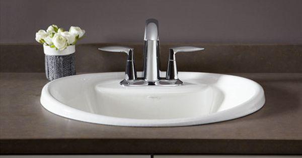Kohler drop in sinks different types of drop in sinks - Different types of bathroom sinks ...