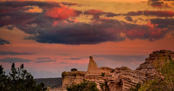 ~~Sunset at White Place ~ Abiquiu, New Mexico by dfikar~~ Beautiful Places