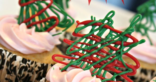 Christmas Tree Chocolate Cupcake Toppers