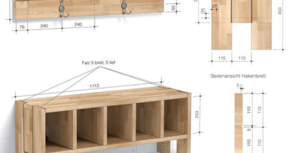 zeichnung flurgarderobe woodworking pinterest deko. Black Bedroom Furniture Sets. Home Design Ideas