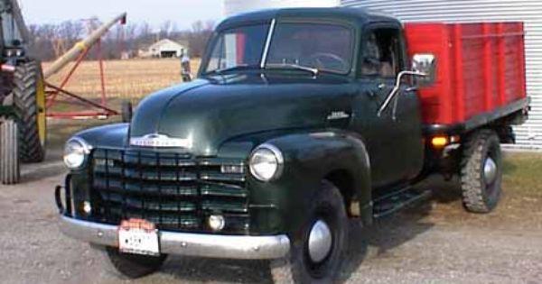 Ralph Pamer S 1953 Chevrolet 3800 1 Ton Grain Truck Old Truck Restored And Running Trucks Old Trucks Farm Trucks