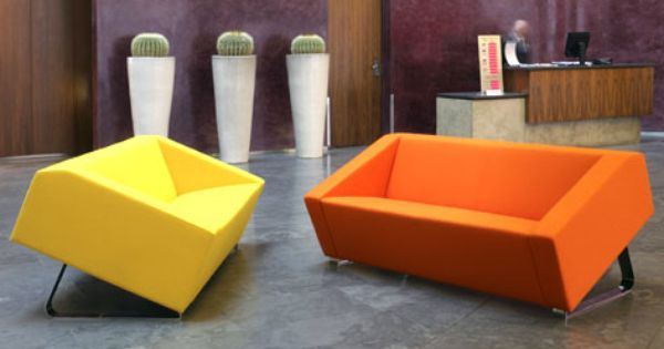 Funky Breakout Area Reception Seating Bring The Fun And Modern Twists To The Office Environment Soft Seating Office Office Sofa Design Modern Sofa Designs