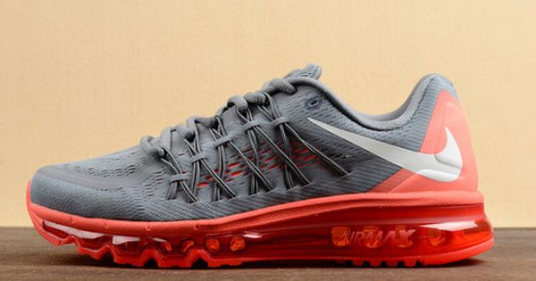 Nike Air Max 2015 Grey Red Mens 698902 018 Czarne buty na piątek  Black friday shoes