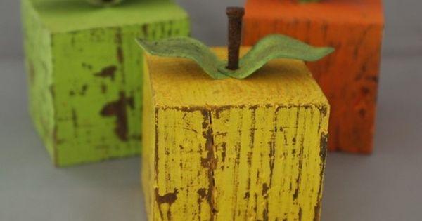 cute! Apples! love as a teacher gift, fall decor...