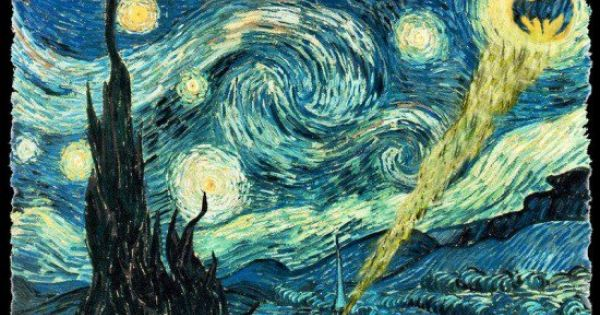 """Starry Night"" painting by Vincent Van Gogh, with Lord of the Rings"