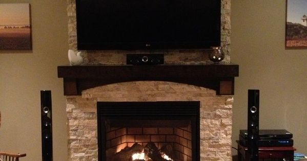 Stone Fireplace With Tv Stone On Fireplace With Tv