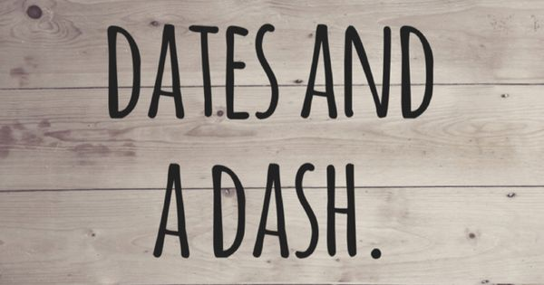 Your life is made of two dates and a dash in Sydney