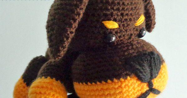 Tinkerbell Amigurumi Free Pattern : Little Rottie amigurumi, crochet dog free pattern, crochet ...
