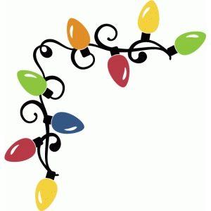 Silhouette Design Store Christmas Lights Corner Borders Christmas Stencils Christmas Decals Christmas Frames