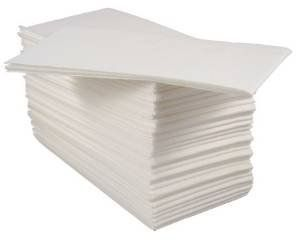 Pack Of 50 Luxury White Paper Airlaid Disposable Paper Hand Towels Table Napkins 8 Fold Disposable Hand Towels Paper Hand Towels Salon Towel