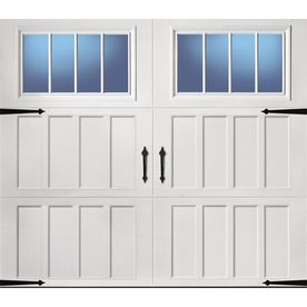 Pella Carriage House Series 108 In X 84 In Insulated White Single Gara Carriage House Garage Carriage House Garage Doors Garage Door Windows