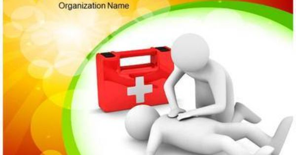 First Aid Powerpoint Template First Aid Cpr Classes Basic Life Support