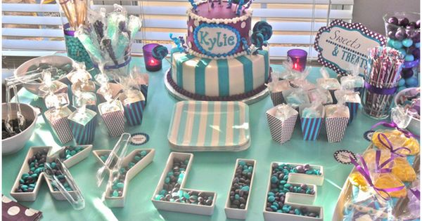 purple and teal baby shower ideas - Google Search