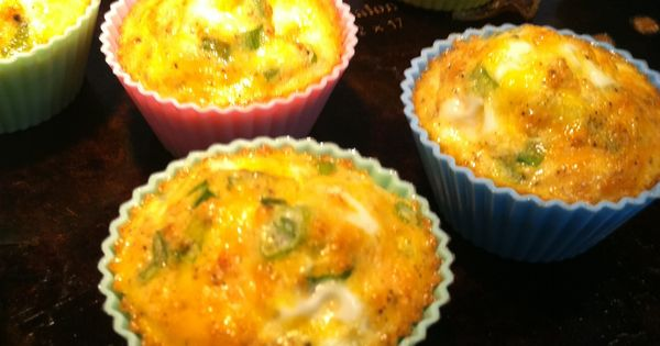 Egg Muffins With Ham, Cheese, And Green Bell Pepper Recipe ...