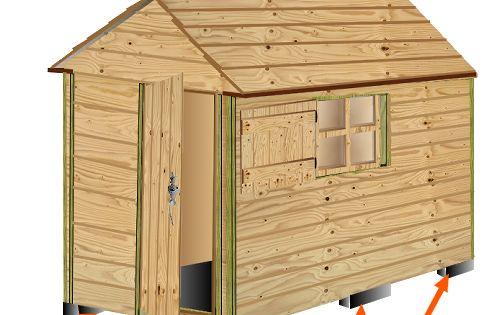 Plan cabane bois de jardin abri jardin bois cabanes outils cabane enfant projets essayer - Cabane a outil ...