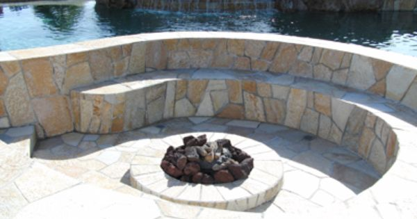 Nice Integration Of Fire Feature And Pool Fire Pit Landscaping Custom Pools Fire Pit