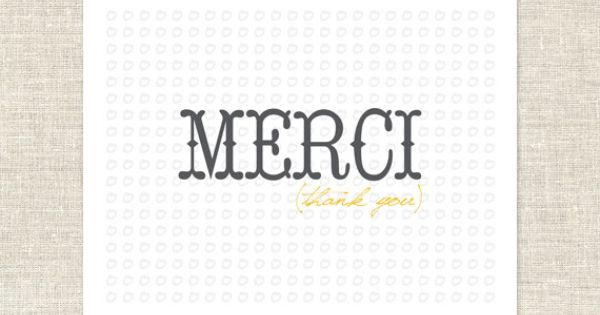 Merci Thank You Note Cards Thank You Note Cards Note Cards Cards
