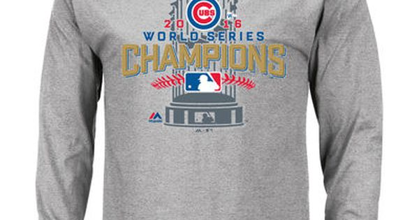 Men S Chicago Cubs Majestic Gray 2016 World Series Champions
