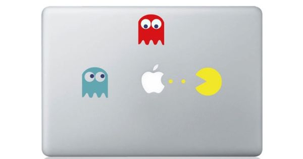 Pacman --- Mac Decal Macbook Stickers Macbook Decals Apple Decal for Macbook