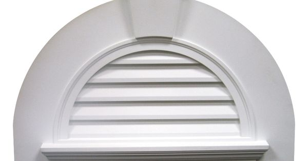 41 5 8 inch w x 29 inch h half round louver with crosshead for Buy fypon