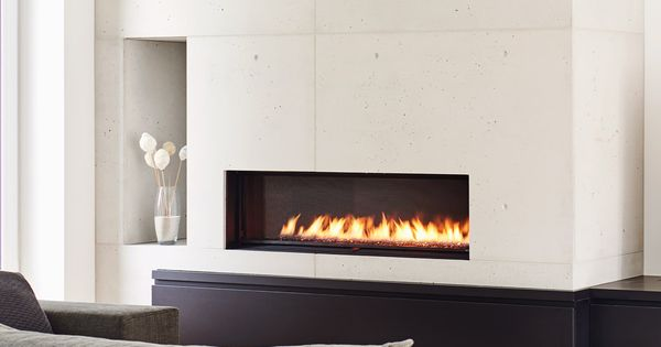 Raw Concrete Fireplace In Toronto In 2020 Fireplace Wall Concrete Fireplace Concrete Design