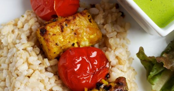 Tempeh Kebabs With Minty Cilantro-Lime Sauce   Recipe ...
