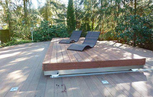 Le Rolling Deck Terrasse Coulissante Pour Couvrir Votre Spa Ou Votre Piscine Terrasse Piscine Spa