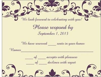 How Do I Make It Absolutely Clear That Guests Do Not Have A Plus One Rsvp Wedding Cards Wording Rsvp Wedding Cards Wedding Invitations Rsvp