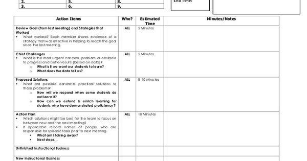 plc agenda template education pinterest. Black Bedroom Furniture Sets. Home Design Ideas