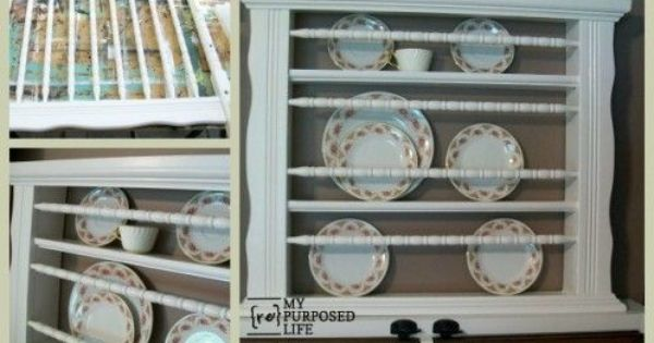 How To Make A Plate Rack Out Of An Old Repurposed Crib