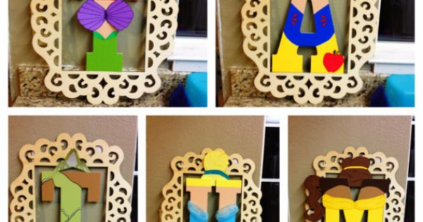 Disney princess painted wood letters by CandiedConfections on Etsy, $15.00