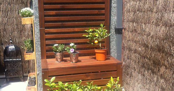 Plantas celos a banco jardinera pared de madera for Paredes de madera para jardin