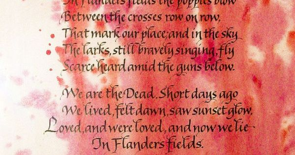 In Flanders Fields by kruijffjes: In Flanders Fields is one of the