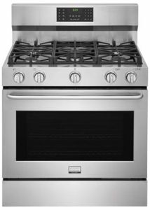 Fggf3685ts Frigidaire 36 Gallery Series Gas Range With One Touch Quick Self Clean And True Convection St Stoves For Sale Kitchen Large Appliances Range Hood