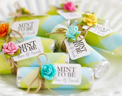 Wedding: Favors: Rolls of mints can be purchased in bulk, dressed up