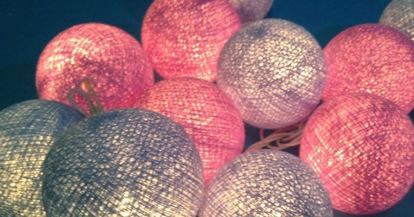cotton ball patio party light string