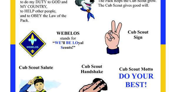 Amazing image intended for cub scout motto in sign language printable