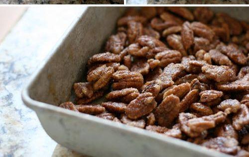 Sweet roasted pecans