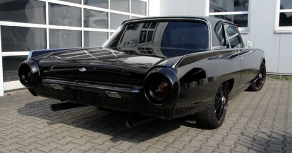 Blacked Out T Bird Deadly Cool Benidorm Spain Espana Ford Thunderbird Thunderbird Classic Cars Muscle