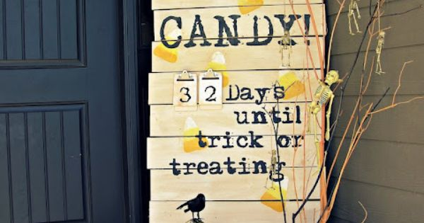 Halloween Porch Sign- good idea if you have scrap wood laying around