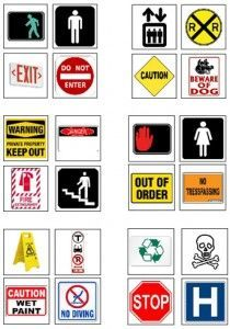 Safety Signs And Signals Download The Safety Signs Symbols Pictured To The Left And Use The Tips Life Skills Classroom Teaching Life Skills Community Signs