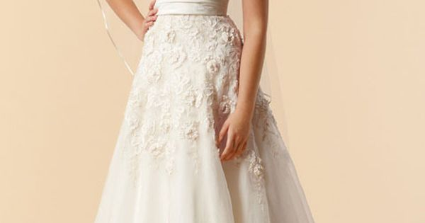 A-line sleeveless organza floor-length bridal gown $422.00. SO PRETTY. proof that you