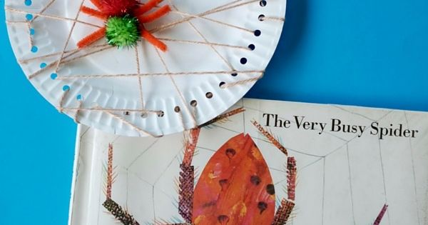 The Very Busy Spider Paper Plate Craft Kidz Activities