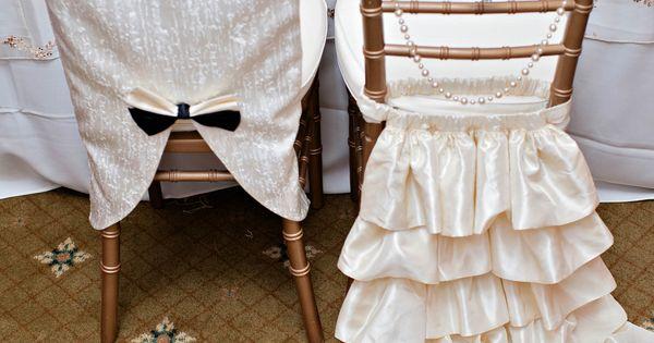 Chivari Chair Covers- Super Cute Bride And Groom Idea