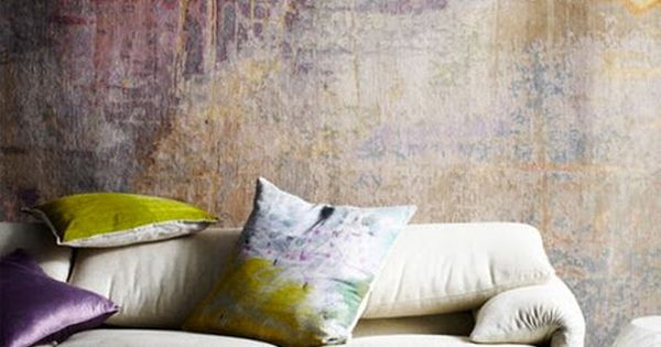 wall, color, texture - absolutely love this wall treatment!!