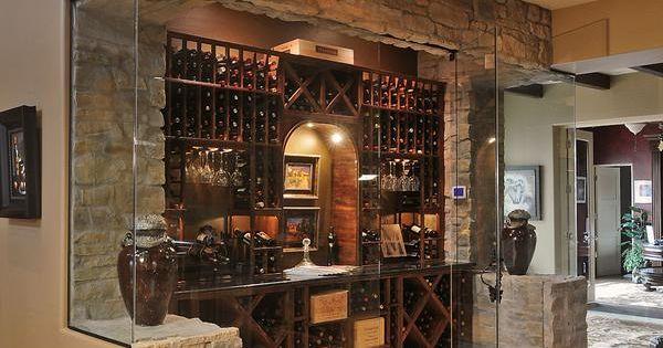 Quaint yet elegant glass encased mini wine cellar buy for Small wine crates