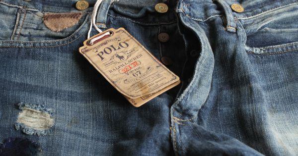 ralph lauren polo vintage patchwork jeans