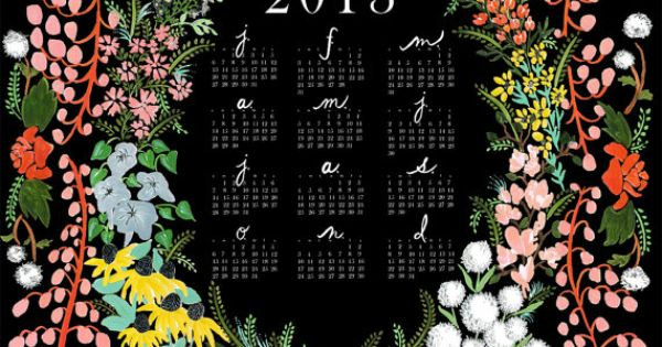 language of flowers calendar | house that lars built